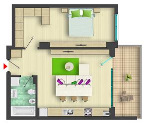 Apartamente inteligente 2 camere