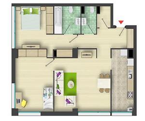 Apartamente inteligente 3 camere